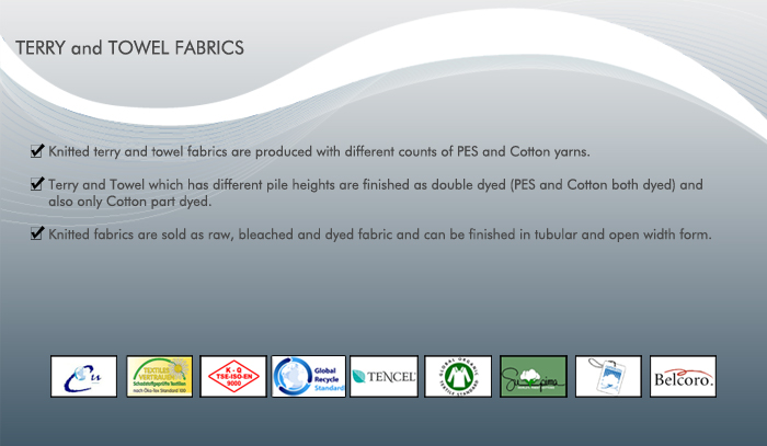 Terry and Towel Fabrics